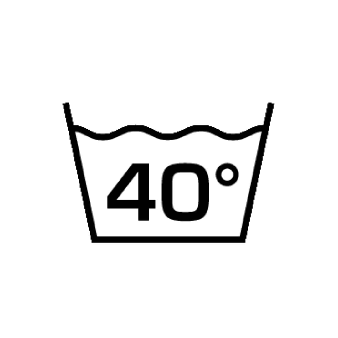 Максимальная температура стирки 40℃. Обычный режим