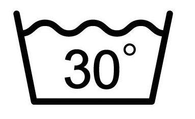 Максимальная температура стирки 30℃. Обычный режим