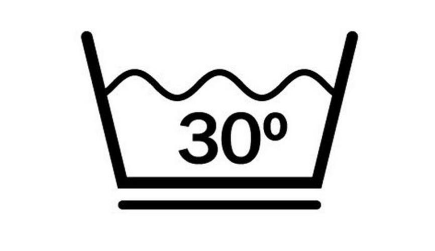 Максимальная температура стирки 30℃. Деликатный режим