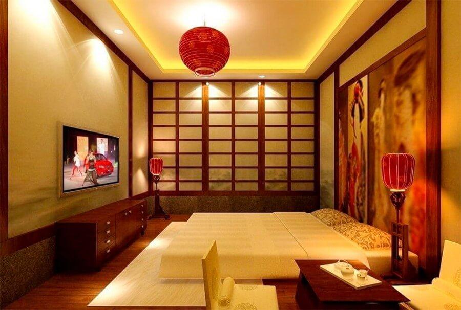 Фото дизайн спальни в японском стиле