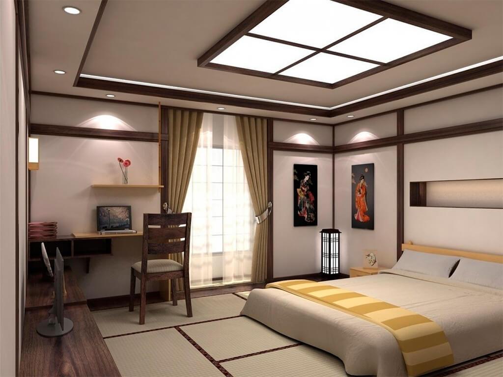 Спальня в японском стиле картинка