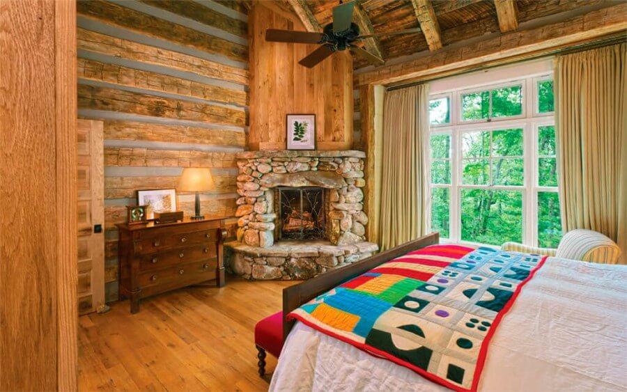 Фото спальни в стиле кантри