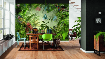 Комната в тропическом стиле