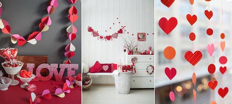 Декор комнаты на 14 февраля