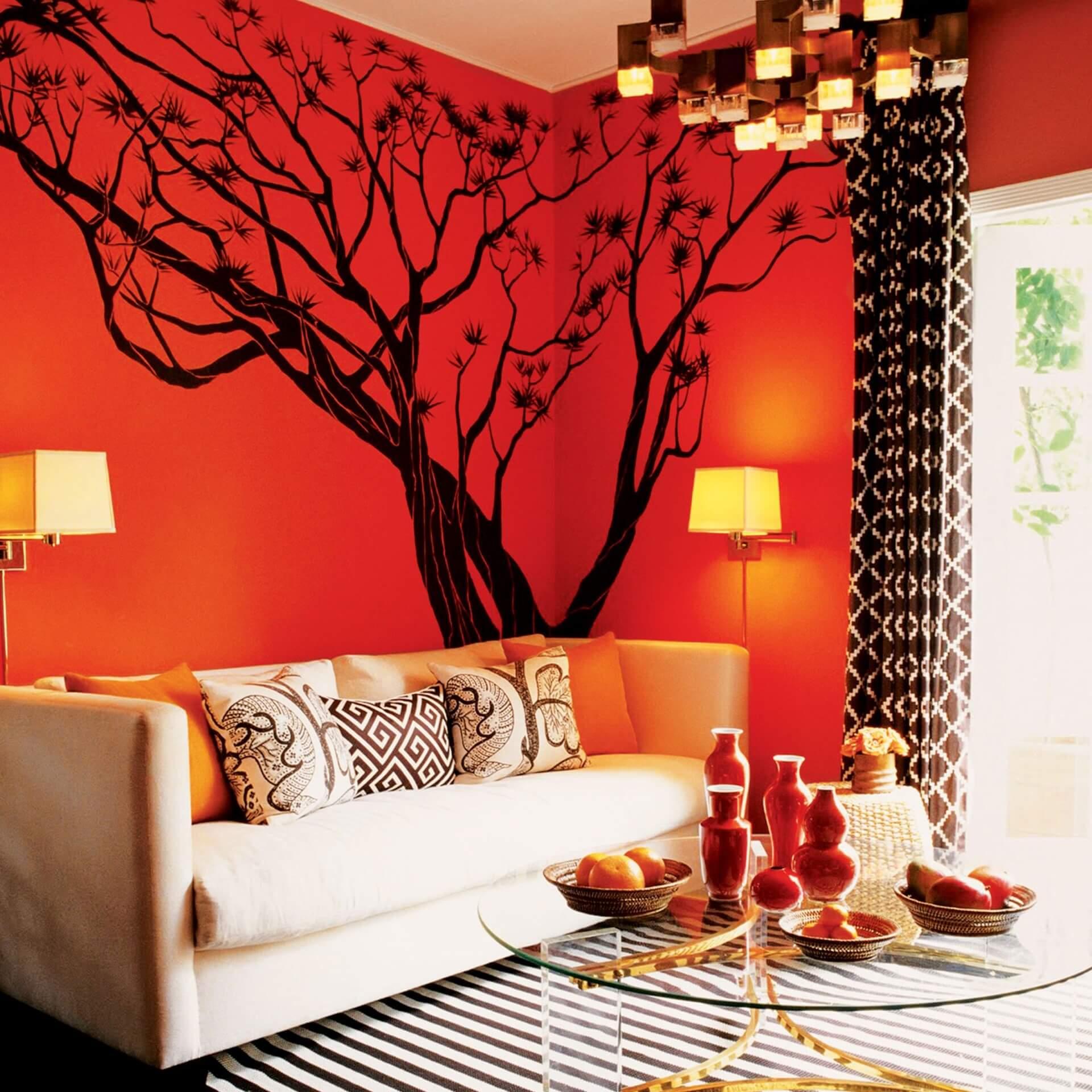 Оранжевый цвет в вашем интерьере