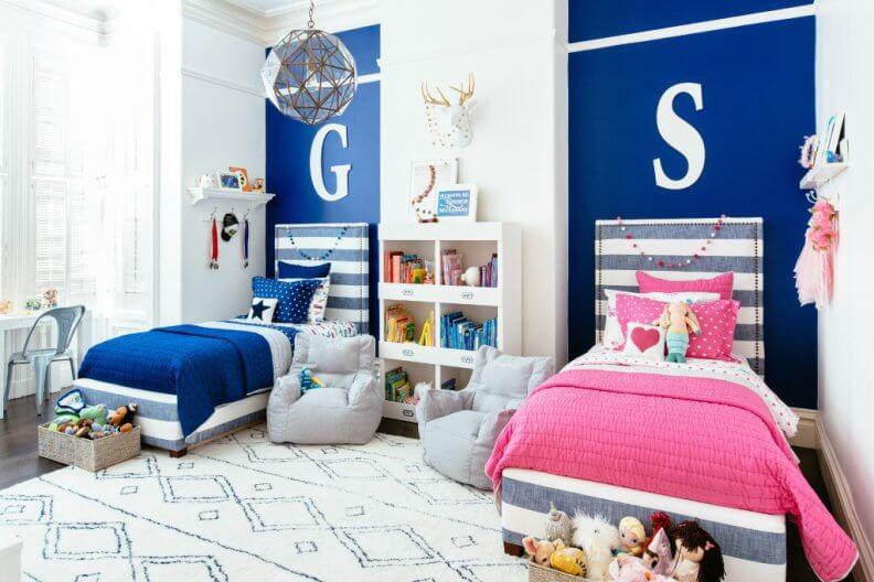 Синий цвет в интерьере фото, изображения Золотой Свиток